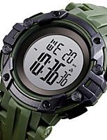 cheap -SKMEI Men's Digital Watch Japanese Digital Sporty PU Leather Black / White / Blue 30 m Water Resistant / Waterproof Calendar / date / day Chronograph Digital Outdoor - Black White Green Two Years