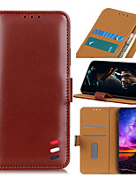 cheap -Case For Samsung Galaxy M30s Xcover Pro A71 5G A51 5G A31 M11 A21S M31 Note 20 Note 20 Plus Note 20 Ultra Card Holder Flip Full Body Cases Solid Colored PU Leather