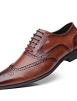 cheap -Men's Formal Shoes Leather Spring & Summer / Fall & Winter Business / Casual Oxfords Breathable Black / Brown / Yellow