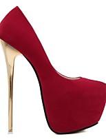 cheap -Women's Heels Stiletto Heel Round Toe PU Fall Black / Red