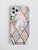 cheap -Case for Apple scene map iPhone 11 11 Pro 11 Pro Max X XS XR XS Max 8 Colorful marble flower pattern folding bracket plating TPU material IMD process all-inclusive mobile phone case
