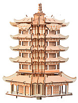 cheap -3D Puzzle Wooden Puzzle Chinese Architecture Simulation Hand-made Wooden 230 pcs Kid's Adults' All Toy Gift