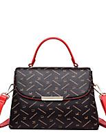 cheap -Women's Rivet / Zipper Faux Leather / PU Top Handle Bag Letter Beige / Coffee