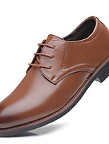 cheap -Men's Summer / Fall Classic / Casual Daily Office & Career Oxfords PU Non-slipping Wear Proof Black / Brown Gradient
