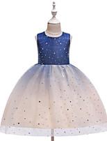 cheap -Toddler Girls' Color Block Sleeveless Above Knee Dress Blue