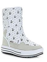 cheap -Women's Boots Flat Heel Round Toe Mesh Mid-Calf Boots Fall & Winter Black / White / Blue