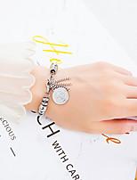 cheap -Men's Women's Vintage Bracelet Geometrical Cross Letter Stylish Trendy Fashion Stainless Steel Bracelet Jewelry Silver For Daily