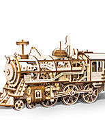 cheap -3D Puzzle Wooden Puzzle Train Simulation Hand-made Wooden 349 pcs Kid's Adults' All Toy Gift