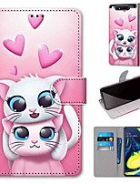 cheap -Case For Samsung Galaxy S10 / S10 Plus / S10 E Wallet / Card Holder / with Stand Love Two Cats PU Leather / TPU for A10s / A20s / A50(2019) / A70(2019) / A90(2019) / Note 10 Plus / J6 Plus(2018)