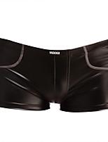 cheap -Men's Basic Boxers Underwear - Normal Low Waist Black M L XL
