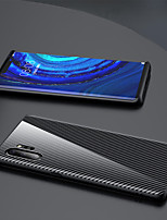 cheap -Case For Samsung Galaxy Galaxy S10 / Galaxy S10 Plus / Galaxy S10 Lite Shockproof Back Cover Solid Colored Carbon Fiber