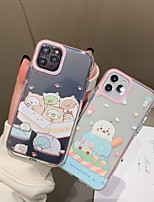abordables -Coque Pour Apple iPhone 11 / iPhone 11 Pro / iPhone 11 Pro Max Antichoc Coque Transparente / Bande dessinée TPU