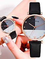 cheap -Women's Quartz Watches New Arrival Fashion Black Brown Grey PU Leather Chinese Quartz Black White Purple Chronograph Cute New Design 1 pc Analog One Year Battery Life