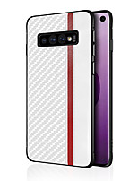 cheap -Case for Samsung scene map Samsung Galaxy S10 S10e S10 Plus S9 S9 Plus Mu Shang series carbon fiber PU skinny PC material all-inclusive drop-proof mobile phone case