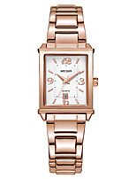 cheap -MEGIR Women's Quartz Watches Vintage Fashion White Rose Gold Stainless Steel Chinese Quartz Rose Gold White Water Resistant / Waterproof Calendar / date / day New Design 30 m 1 set Analog Two Years