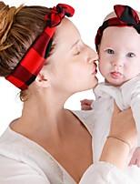 cheap -Kids / Toddler / Newborn Unisex / Girls' Vintage / Sweet Houndstooth Cotton Hair Accessories White / Red / Green One-Size