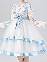 cheap -Kids Girls' Color Block Dress Blue