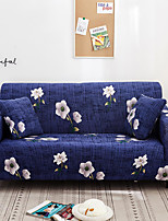 cheap -Blue Floral Print Dustproof All-powerful Slipcovers Stretch Sofa Cover Super Soft Fabric Couch Cover with One Free Pillow Case