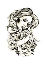 abordables -1 pcs tatouages temporaires résistant à l'eau / jetable visage / corps autocollant de transfert d'eau autocollants de tatouage