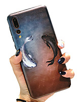 cheap -Case for Huawei scene map Huawei P30 P30 Lite P30 Pro Pisces pattern painted embossed matte TPU material all-inclusive mobile phone case