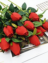 cheap -Artificial Flowers 1 Branch Classic Modern Roses Tabletop Flower