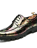 cheap -Men's Formal Shoes PU Spring & Summer / Fall & Winter British Oxfords Walking Shoes Non-slipping Black / Purple / Green / Wedding / Party & Evening