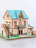 cheap -3D Puzzle Wooden Puzzle Architecture Simulation Hand-made Wooden 74 pcs Kid's Adults' All Toy Gift