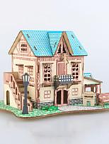 abordables -Puzzles 3D Puzzles en bois Architecture Simulation Fait à la main En bois 74 pcs Enfant Adulte Tous Jouet Cadeau