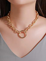 cheap -Men's Women's Choker Necklace Necklace Chrome Gold Silver 48 cm Necklace Jewelry For Carnival Prom Street Club Festival