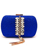 cheap -Women's Glitter / Tassel Synthetic Evening Bag Solid Color Black / Gold / Silver