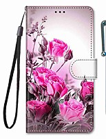 cheap -Case For Samsung Galaxy S10 / S10 Plus / S10 E Wallet / Card Holder / with Stand Wild Roses PU Leather / TPU for A10s / A20s / A50(2019) / A70(2019) / A90(2019) / Note 10 Plus / J6 Plus(2018)