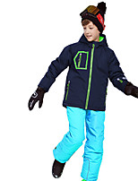 cheap -Phibee Boys' Ski Jacket with Pants Skiing Camping / Hiking Winter Sports Windproof Warm Winter Sports Polyester Warm Top Warm Pants Clothing Suit Ski Wear
