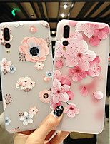 cheap -Case for Huawei scene map Huawei P30 P30 Lite P30 Pro Flower pattern painted embossed matte TPU material all-inclusive mobile phone case