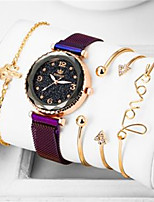 cheap -Women's Quartz Watches Luxury Elegant Black Purple Pool Stainless Steel Chinese Quartz Black Rose Gold Purple Creative Adorable Analog