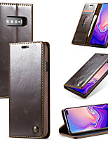 cheap -Leather flip phone case for Samsung Note8 / 9/10 Plus magnetic adsorption SamsungS8 / S9 S10 Plus S10E 5G anti-drop durable mobile phone case with card slot