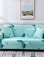 Недорогие -зеленый перо с принтом пылезащитный всесильный чехлы из эластичного чехла для дивана супер мягкий чехол из ткани с одной бесплатной наволочкой