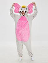 abordables -Adulte Pyjamas Kigurumi Eléphant Combinaison de Pyjamas Molleton Fushia Cosplay Pour Homme et Femme Pyjamas Animale Dessin animé Fête / Célébration Les costumes / Collant / Combinaison