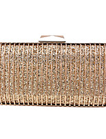 cheap -Women's Sashes / Ribbons / Chain Alloy Evening Bag Solid Color Gold / Silver / Rainbow