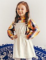 cheap -Toddler Girls' Basic Color Block Long Sleeve Clothing Set White