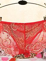 cheap -Women's Mesh Briefs - Normal Mid Waist Blushing Pink Fuchsia Yellow One-Size