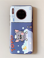 cheap -TOM & JERRY Case For Huawei Mate 30 / Mate 30 Pro Dustproof / Ultra-thin / Pattern Back Cover Cartoon TPU