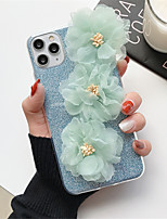cheap -Case For Apple iPhone 11 / iPhone 11 Pro / iPhone 11 Pro Max Glitter Shine Back Cover Glitter Shine / Flower TPU for iPhone 6  6 Plus  6s 6s plus 7 8 7 plus 8 plus X XS XR XS MAX