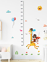 cheap -Kids Height Chart Wall Sticker Decor Cartoon Giraffe Height Ruler Wall Stickers Home Room Decoration Wall Art Sticker Poster