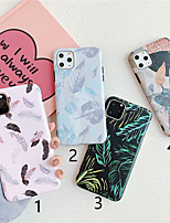 cheap -Case For Apple iPhone 11 / iPhone 11 Pro / iPhone 11 Pro Max Pattern Back Cover Tree / Feathers TPU