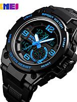 cheap -SKMEI Men's Digital Watch Digital Sporty PU Leather Black 30 m Water Resistant / Waterproof Bluetooth Calendar / date / day Analog - Digital Outdoor - Black Gold Blue Two Years Battery Life