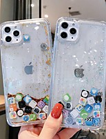 cheap -Case For iPhone 11 / iPhone 11 Pro / iPhone 11 Pro Max Shockproof / Flowing Liquid / Ultra-thin Back Cover Transparent / Glitter Shine TPU / PC Case For iPhone Xs Max /XR/XS/X/ 8 Plus / 7 Plus/ 6 Plus