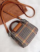 cheap -Women's Zipper PU Top Handle Bag Black / Brown / Yellow
