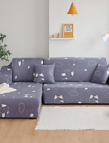 cheap -Cartoon Cat Print Dustproof All-powerful Slipcovers Stretch Sofa Cover Super Soft Fabric Couch Cover with One Free Pillow Case