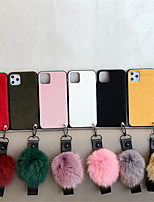 cheap -Case For Apple iPhone 11 / iPhone 11 Pro / iPhone 11 Pro Max DIY Back Cover Solid Colored Textile Leath for iPhone 6  6 Plus  6s 6s plus 7 8 7 plus 8 plus X XS XR XS MAX