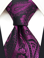 cheap -Men's Party / Work / Basic Necktie - Paisley / Jacquard